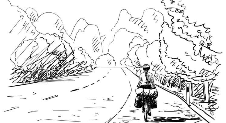 Illustrazione bici (Shutterstock)